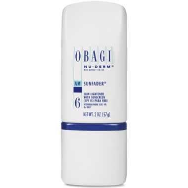 #Obagi #NuDerm Sunfader helps to minimize uneven skin tone with hydroquinone and includes SPF 15.