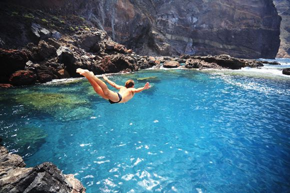 Canary Islands natural swimming pools