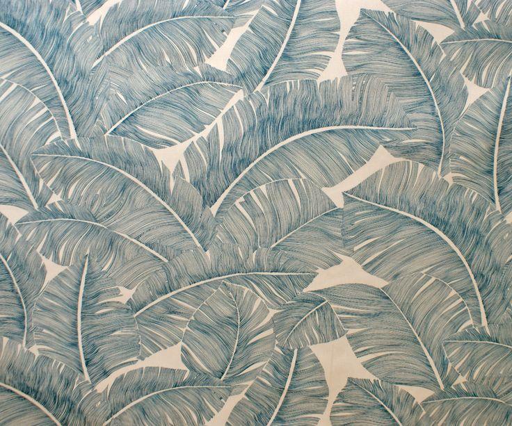 Grandes feuilles exotiques lagon : Tissus Ameublement par tissus-et-mercerie