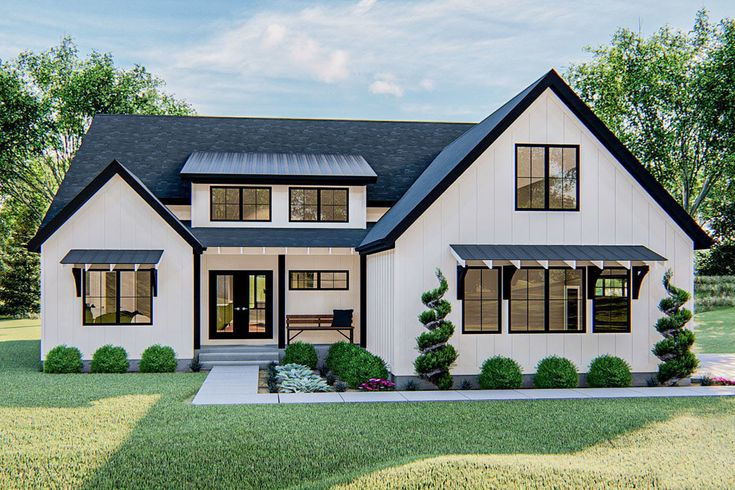 Plan 62846DJ: One-Story 3-Bed Modern Farmhouse Plan with ...