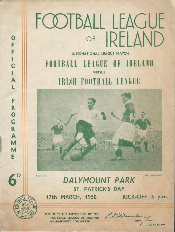 1950 League of Ireland v Irish League, Dalymount Park