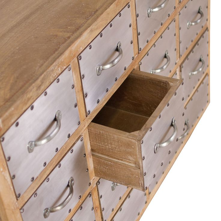 Hugo Industrial Dresser | dotandbo.com -- I am looking for something similar to house my craft projects near my chair in the living room...