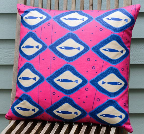 Scandinavian inspired fish pillow cover pink made by TroskoDesign on Etsy: https://www.etsy.com/listing/227355510/scandinavian-inspired-fish-pillow-cover?ref=shop_home_active_16