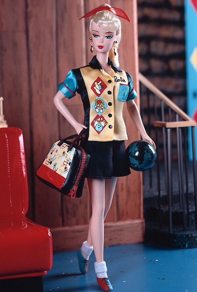 Bowling Champ™ Barbie® Doll 2000 Prod Code 25871 ** Newest Barbie acquisition in honor of Pepere