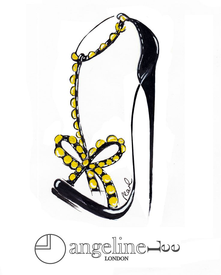 pearl black gold studded heels ss13 style design illustration bow