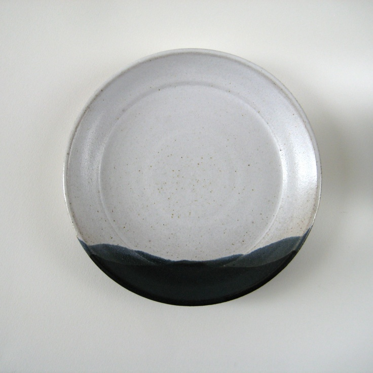 """Side Plate - Small Stoneware Plate """"Winter Lanscape"""". £20,00, via Etsy."""