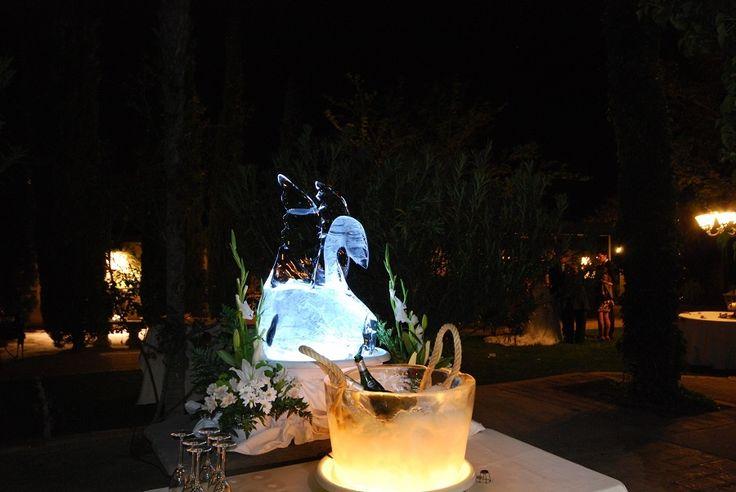 Esculturas de hielo para bodas especiales