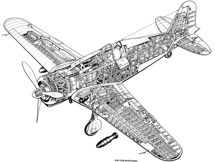 Idea di Jacek su Aircraft clear cutaways ww I & ww II