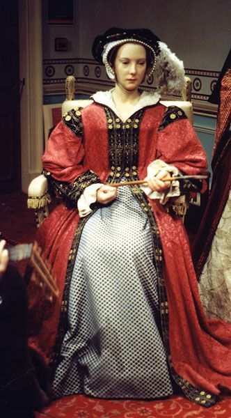 Wax figure of Katherine Parr 	At Madame Tussaud's, London; Photograph by Lara E. Eakins
