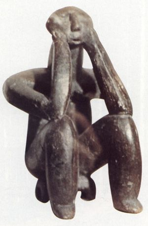 Romanian Mythology (Pictured: Dacian statue, Ginditorul - The Thinker)