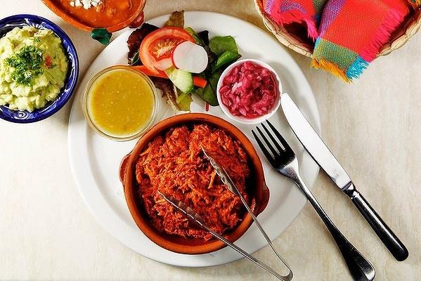 The Cochinita Pibil dish from Los Amates Mexican, Fitzroy