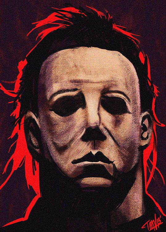 """31 Days Of Halloween"" Sketch Project: October 25, 2013- Michael Myers doodle."