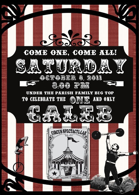 like the rain: vintage circus party