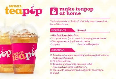 Tea For Me Please: David's Tea Teapop