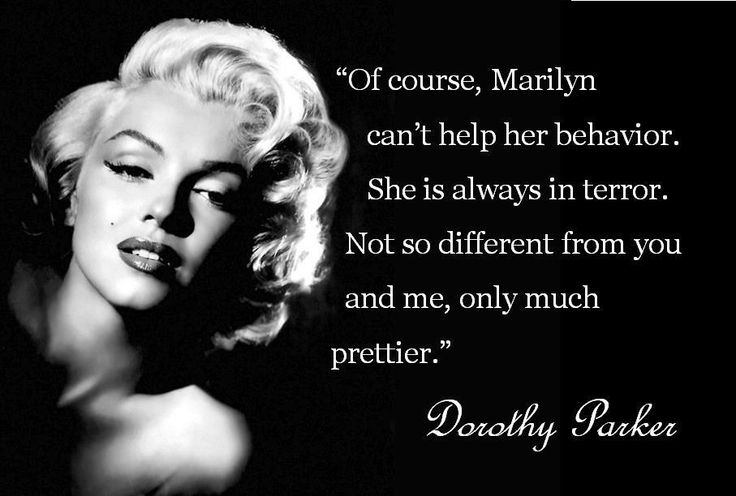 Dorothy Parker quote about Marilyn Monroe
