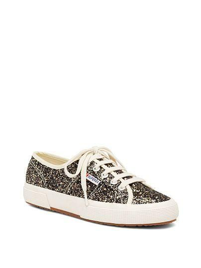 Perfect for glamming up your most casual looks. // Superga COTU Glitter Sneaker