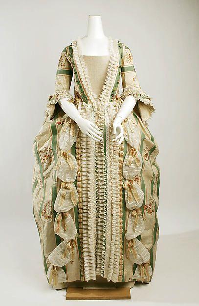 Robe à la Française Date: ca. 1770 Culture: French Medium: silk Accession Number: C.I.68.69