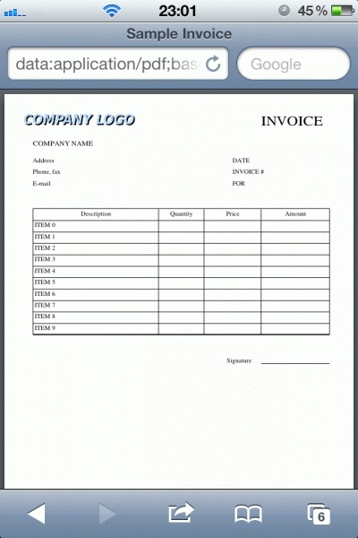 Invoice Generator Pdf Pure Javascript Code Component To Generate Pdf On Client Side In .