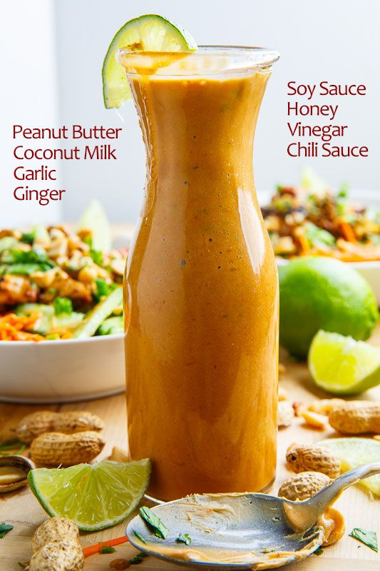 Use agave in place of honey. Thai Peanut Dressing