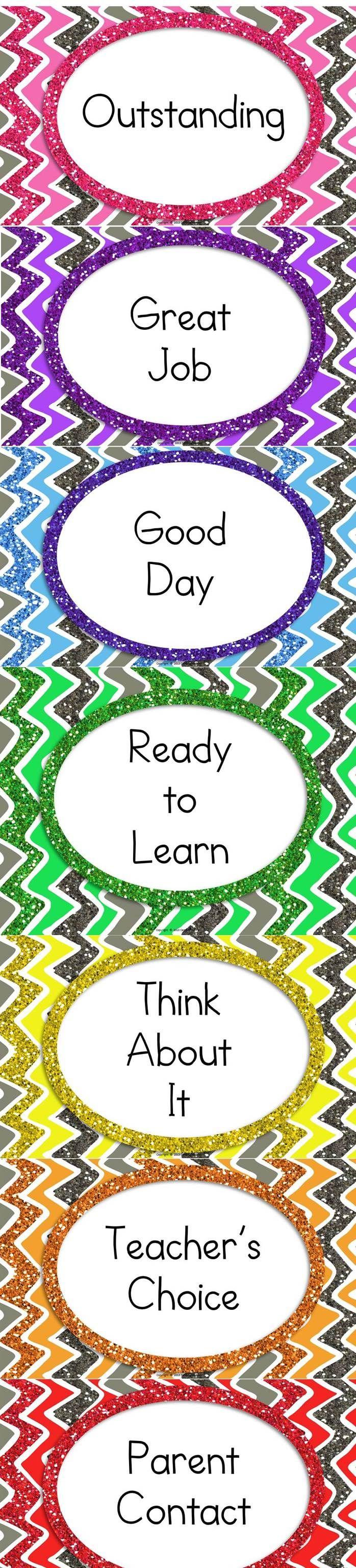 Clip Chart Classroom Management-Glitter Style