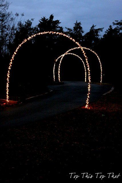 Outdoor Christmas Lights And Diy Arches Outdoor Living