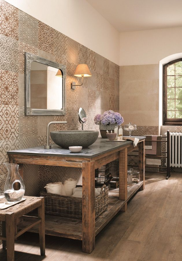 Vintage character with modern touches: Creta #tiles by FAP ceramiche #bathroom @fapceramiche