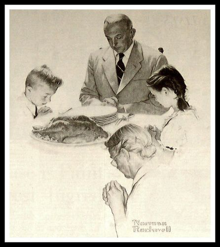 Norman Rockwell, Family Prayer Drawing