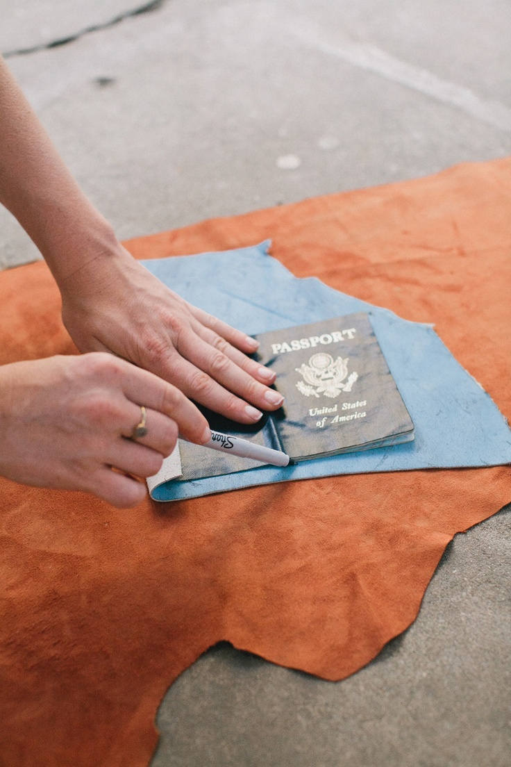 Instructions: Making a leather passport holder.  Rue Magazine (June 2012 Issue).  Photography by The Way We Love.: Learning Leatherwork, Diy Leather, Leather Passport, Art Leatherwork, Magazine June, Rue Magazine