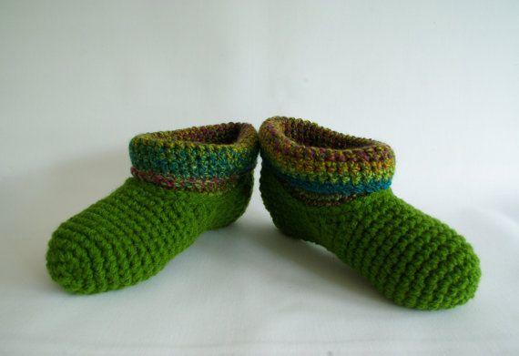 crochet slipper socks warm wool slippers bed socks by nettimadeit