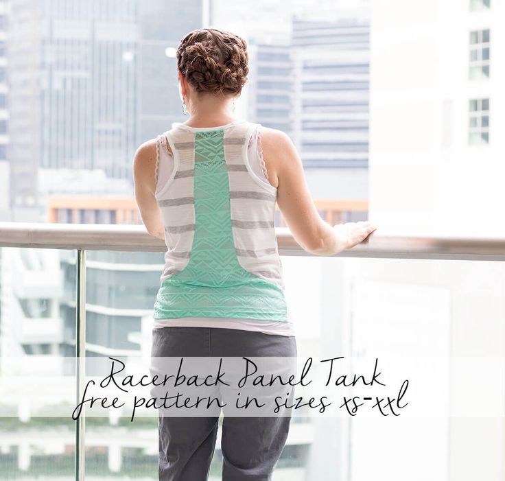 make an adorable new tank for summer with this womens free tank top sewing pattern. It comes in sizes xs-xxl and has a fun racerback paneled detail