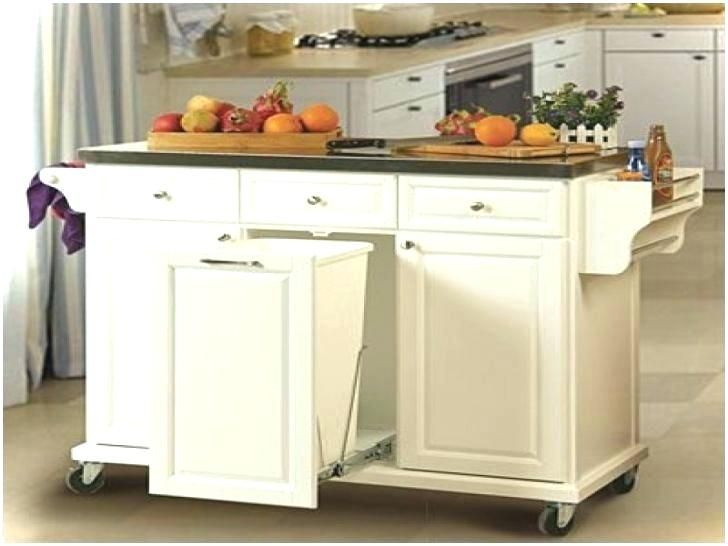 Kitchen Island With Trash Bin Unique Can Hidden Islands Cart Double Garbage Hid Portable Kitchen Island Building A Kitchen Kitchen Island With Trash Bin