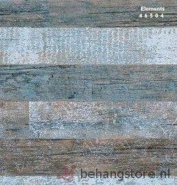 BN Elements sloophout bruin blauw grijs - BN Elements (Hout structuurbehang) - BN (Wallcovering) - Behang voor ieder - Behangstore