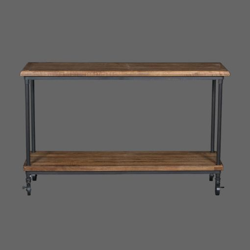 Billy Industrial Reclaimed Timber & Metal Console