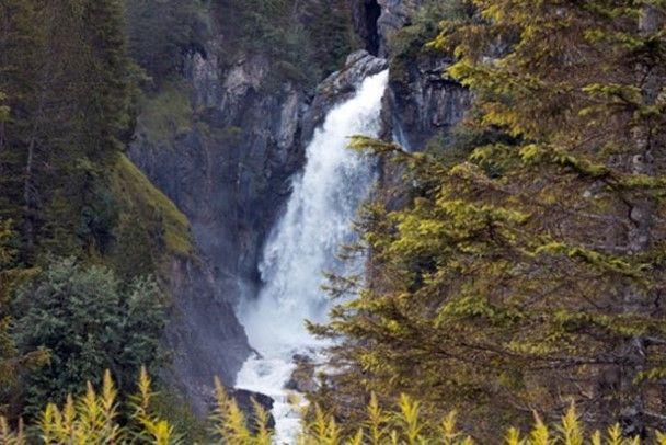 Reichenbach Falls in Switzerland