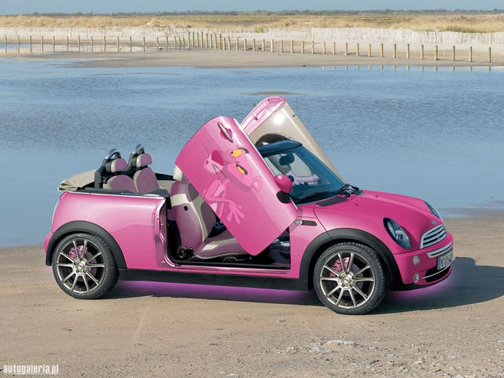 Pink Mini Cooper Convertible ☆ Girly Cars for Female Drivers! {Without the Pink Panther}