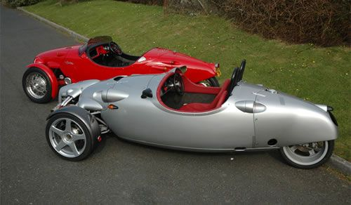 Talking 'bout Volkwagen, here's a fantastic kit car (technically, trike) designed by Richard Oakes and powered by VW engine and drivetrain: The Blackjack Zero....