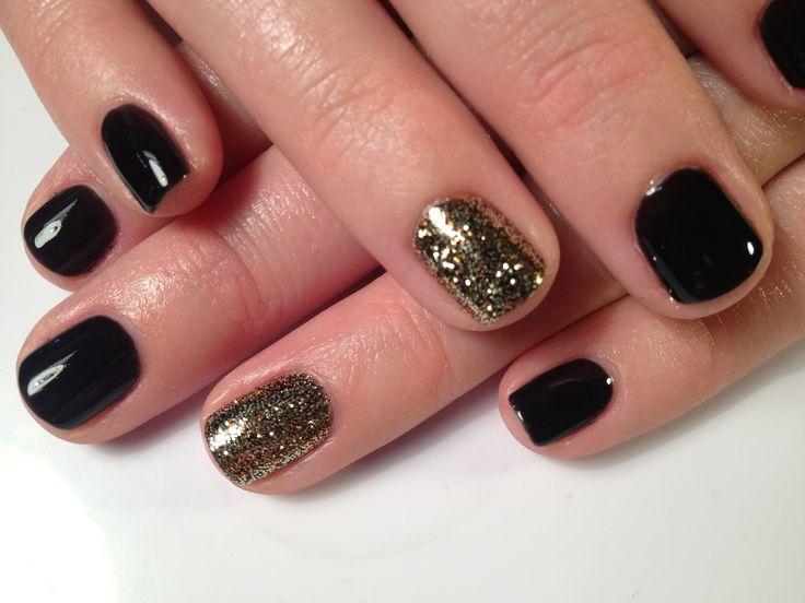 Shellac Nails, Manicures, Shellac Short Nails, Hair Nails, Nails Black