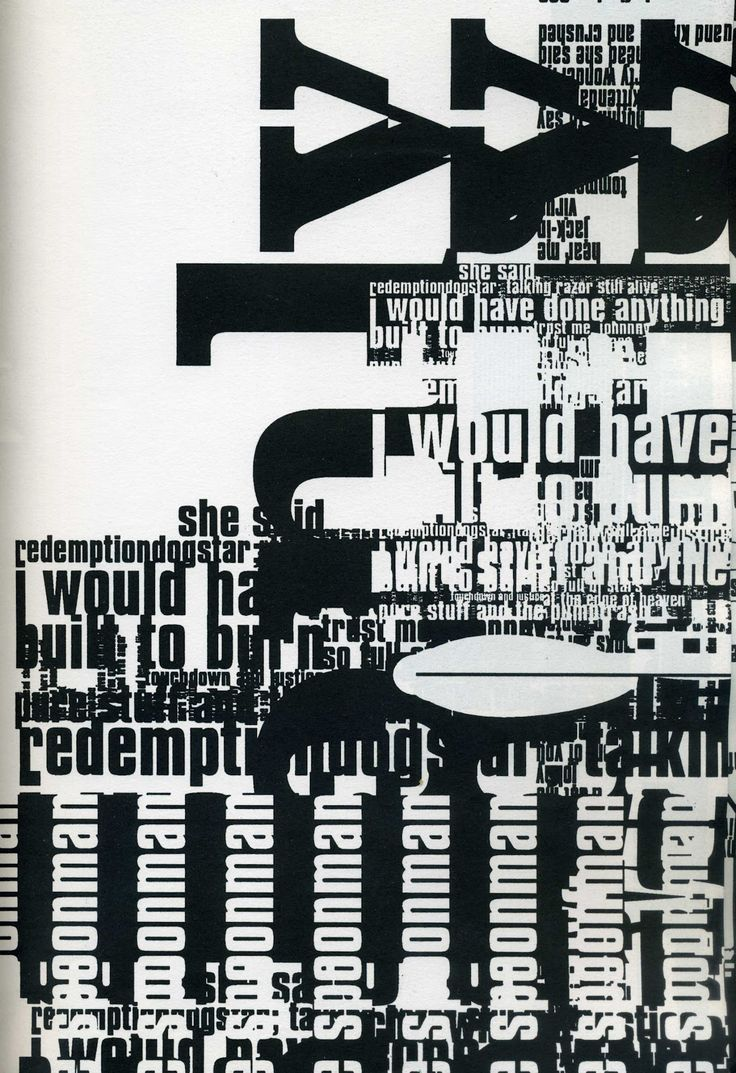 "From ""Mmm ...Skyscraper I Love You: A Typographic Journal of New York"", a book created by Tomato's Karl Hyde and John Warwicker (also of Underworld band) in 1999."