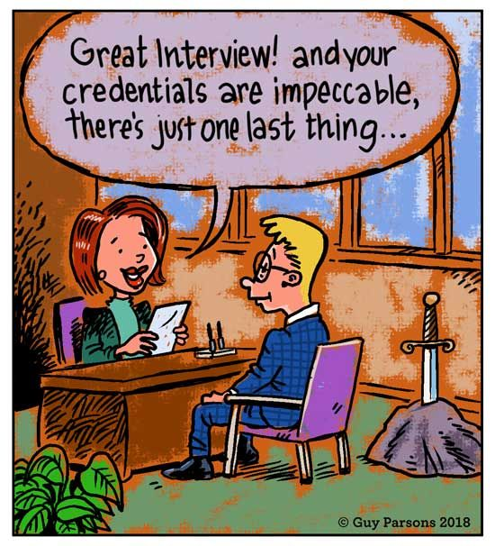 The job interview was going so well...