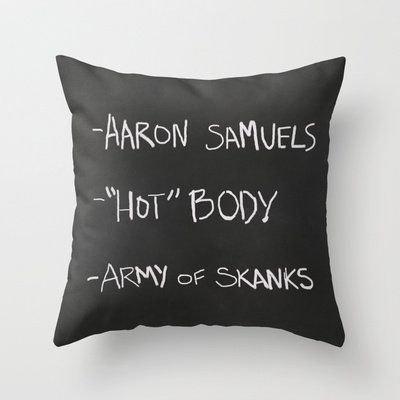 Regina George's Resources from the movie Mean Girls Throw Pillow by AllieR | Society6