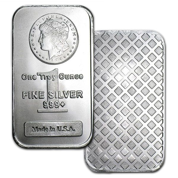 Low Price Morgan Design 1 Oz Silver Bars From Money Metals Silver Bars Silver Bullion Silver Investing