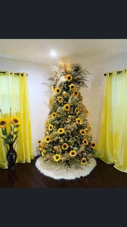 Sunflower christmas treechristmas sunflower tree in