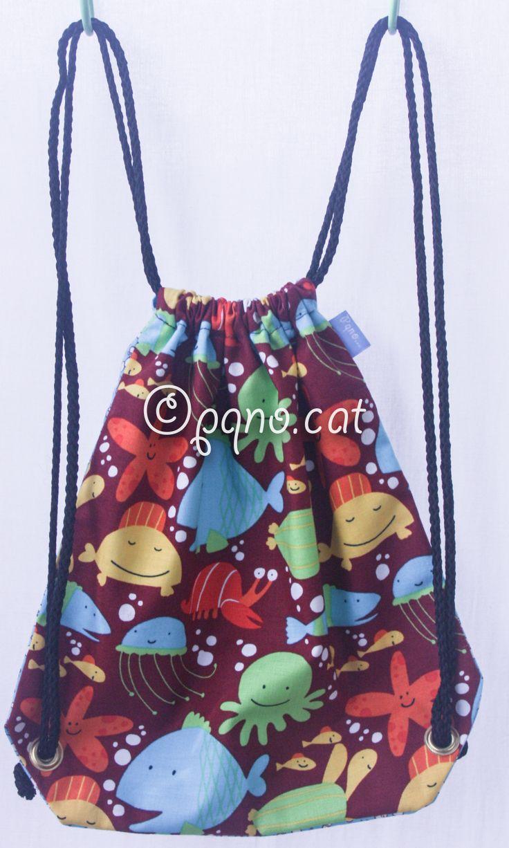 Ref. MM01- Davant de mini motxilla, de tela - Delante de mini mochila, de tela - Front part, of fabric... aprox. 25 x 25cm