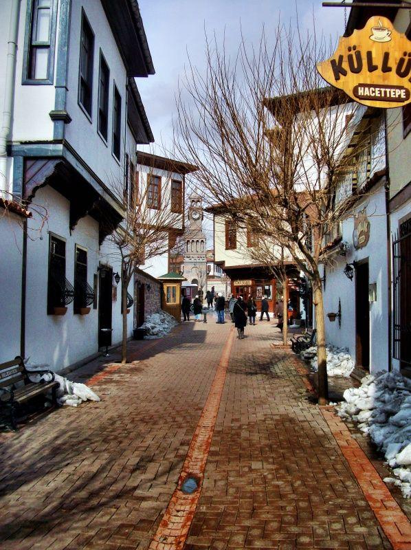 A street in Old Ankara, Turkey
