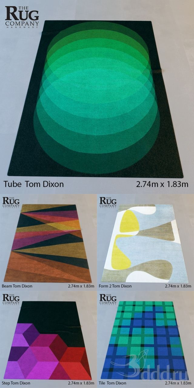 """""""PROFI"""" Tom Dixon (Beam,Form 2,Step,Tile,Tube) 3dsMax 2009 и ниже (Vray) : Другие предметы интерьера : Файлы : 3D модели, уроки, текстуры, 3..."""