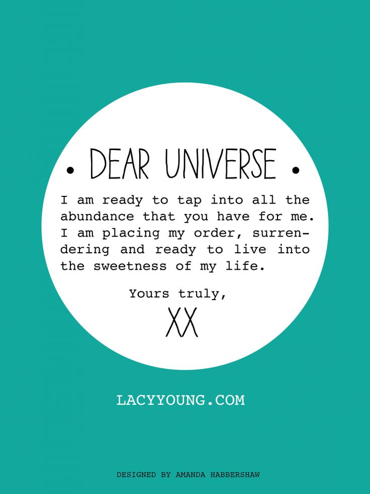 your letter to the universe is ready