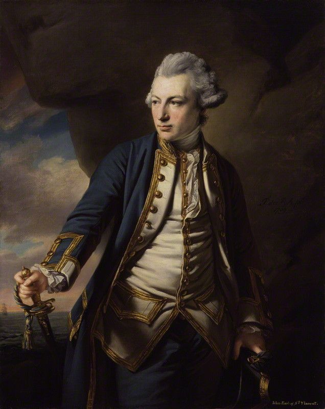 John Jervis, Earl of St Vincent  by Francis Cotes  oil on canvas, 1769