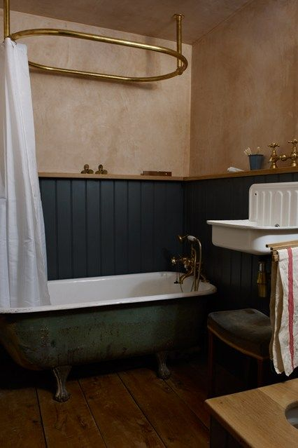 Discover bathroom design ideas on HOUSE - design, food and travel by House & Garden. Patrick Williams, of Berdoulat Design used salvaged finds and traditional techniques to imaginatively restore his bathroom.