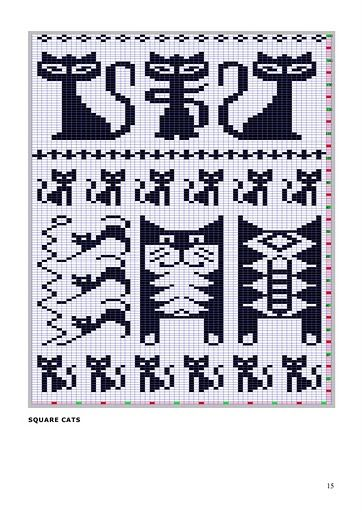 Kitten Knitting Chart : Best images about fair isle cross stitch charts on