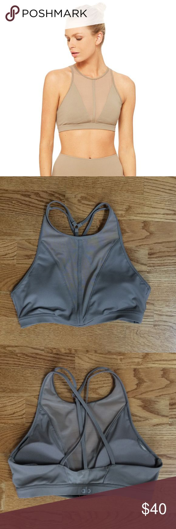 Alo yoga Empower sports bra Like new condition, worn once color is gravel size small ALO Yoga Intimates & Sleepwear Bras